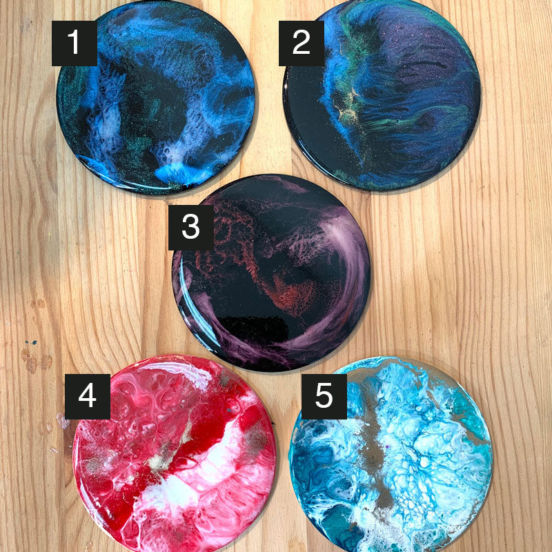 SAMPLE SALE - Resin Art on Acrylic Base