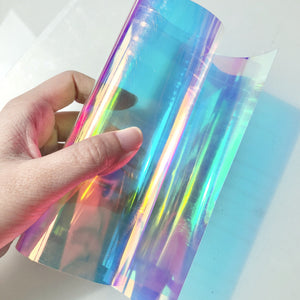 SAMPLE SALE - Iridescent Rainbow Cellophane Roll or Sheet