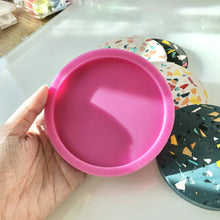 SAMPLE SALE - Handmade Round Coaster Silicone Mould (Slight Defect)
