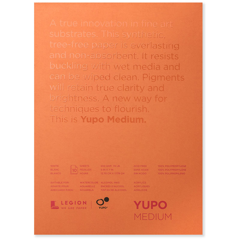 Legion Yupo Waterproof paper - 10 Sheet Pad