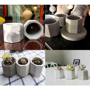 Geometric Planter Silicone Mould for Casting Resin, Jesmonite or Concrete
