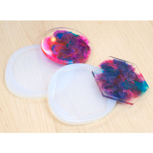 Premium Translucent Silicone Coaster Mould