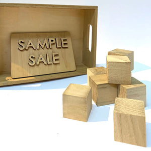 SAMPLE SALE - Pack of Small Wooden Blocks