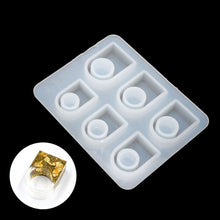 Square Ring Silicone Mould with 6 Ring Sizes for Casting Resin, Jesmonite or Concrete