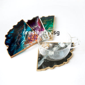 Premium Translucent Silicone Agate Slice Coaster Mould