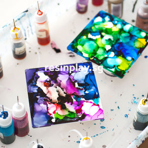 Alcohol Ink Coasters (2-in-1)