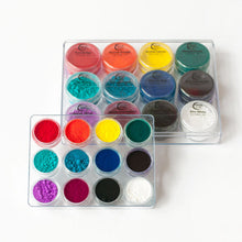 Artist Powder Pigment Set for Resin Art & Jesmonite - Set of 12 Basic Colours