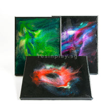 Black Gesso Cotton Canvas For Resin Art - Set of 2