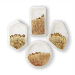 Burr Wood and Silicone Pendant Mould Set - No Drill