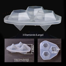 3 Large Diamonds Silicone Mould