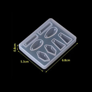 Earring Pendants Silicone Mould - No Drill