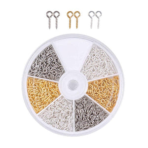 Screw Eye Pins for Resin Jewellery - Set of 3 colours (600 Pcs)
