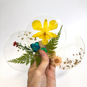 SAMPLE SALE - Spring Flower Coasters