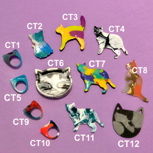 SAMPLE SALE - Assorted Cat Embellishments & Jewellery