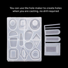 Organic & Geometric Jewellery Pendants Silicone Mould - With Hole Maker