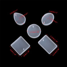 5 Pendants Silicone Mould Set - No Drill