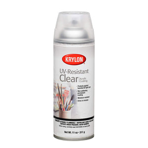 Krylon UV-Resistant Clear Gloss Spray for High Shine Glossy Effect on Resin (311g)