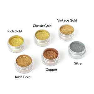 100% Pure Real Metal Powder Pigments