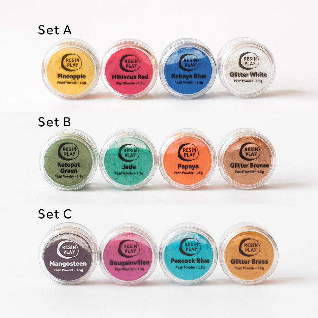 Mica Pearl Powder Pigment Set - Set of 4 colours