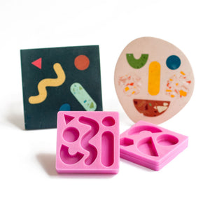 Shapes Inlay Handmade Silicone Mould - For Jesmonite Coaster