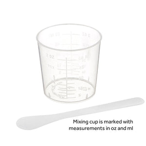 Reusable Mixing Cups with Measurements & Stir Sticks - Set of 5 or 20