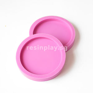 Handmade Round Coaster Silicone Mould for Casting Concrete or Jesmonite