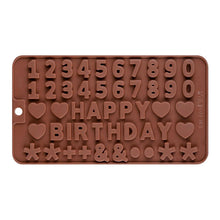 Numbers & Happy Birthday Silicone Mould