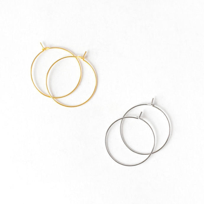 Lead-free & Nickel-free Round Circle Earring Hoops (50 Pcs)