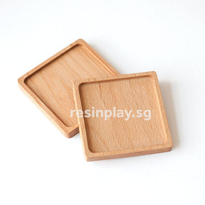 Natural Wooden Coaster Base for Resin Art - Set of 2 or 6