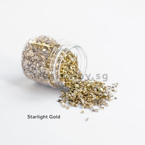 Crushed Glass and Glass Glitter - Set of 4 Colours