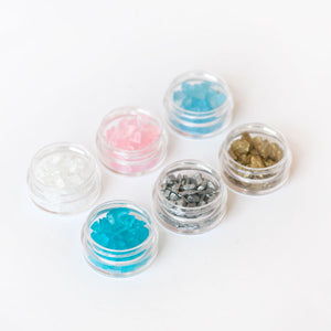 Assorted Crushed Glass Set for Terrazzo Making - Set of 6 colours