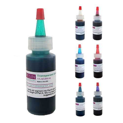 Resin Obsession Transparent Epoxy Pigments (30ml)