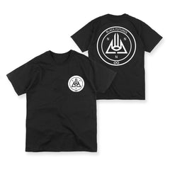 BLACK FUTURES CIRCULAR LOGO BLACK T-SHIRT