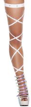 "3233 - 100"" Solid Leg Strap with Attached Garter & Rhinestone Detail"