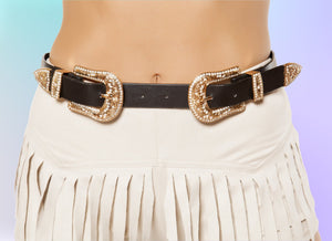3354 - Adjustable Double Buckle Belt