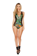 3421 - Roma Rave Two-Tone Green Romper with Zipper Detail