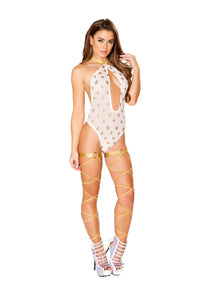 3440 - Roma Rave Shimmer Romper with Gold Stars