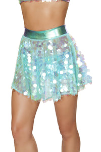 1pc Flare Sequin Skirt