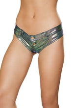 1pc Mini Booty Shorts with Belt Loop and Buckle Front Detail