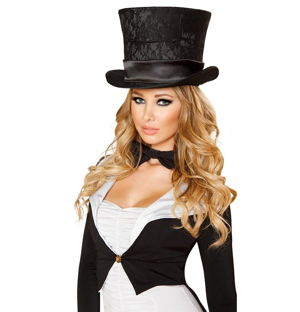 H4517-Deluxe Top Hat - Roma Costume Accessories