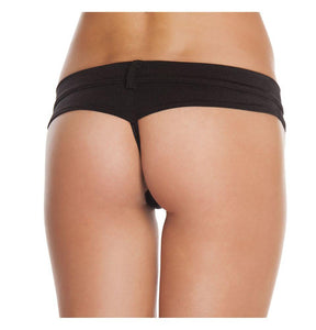 SH3226 - Black - 1pc Extreme Booty Shorts with Button Front Detail - Shorts - Roma Costume New Arrivals,New Products,Shorts - 2