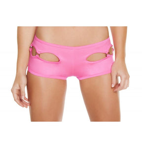 SH3184 - Hot Pink - Cut-out Shorts with O-Ring Detail - Shorts - Roma Costume New Arrivals,New Products,Shorts - 2