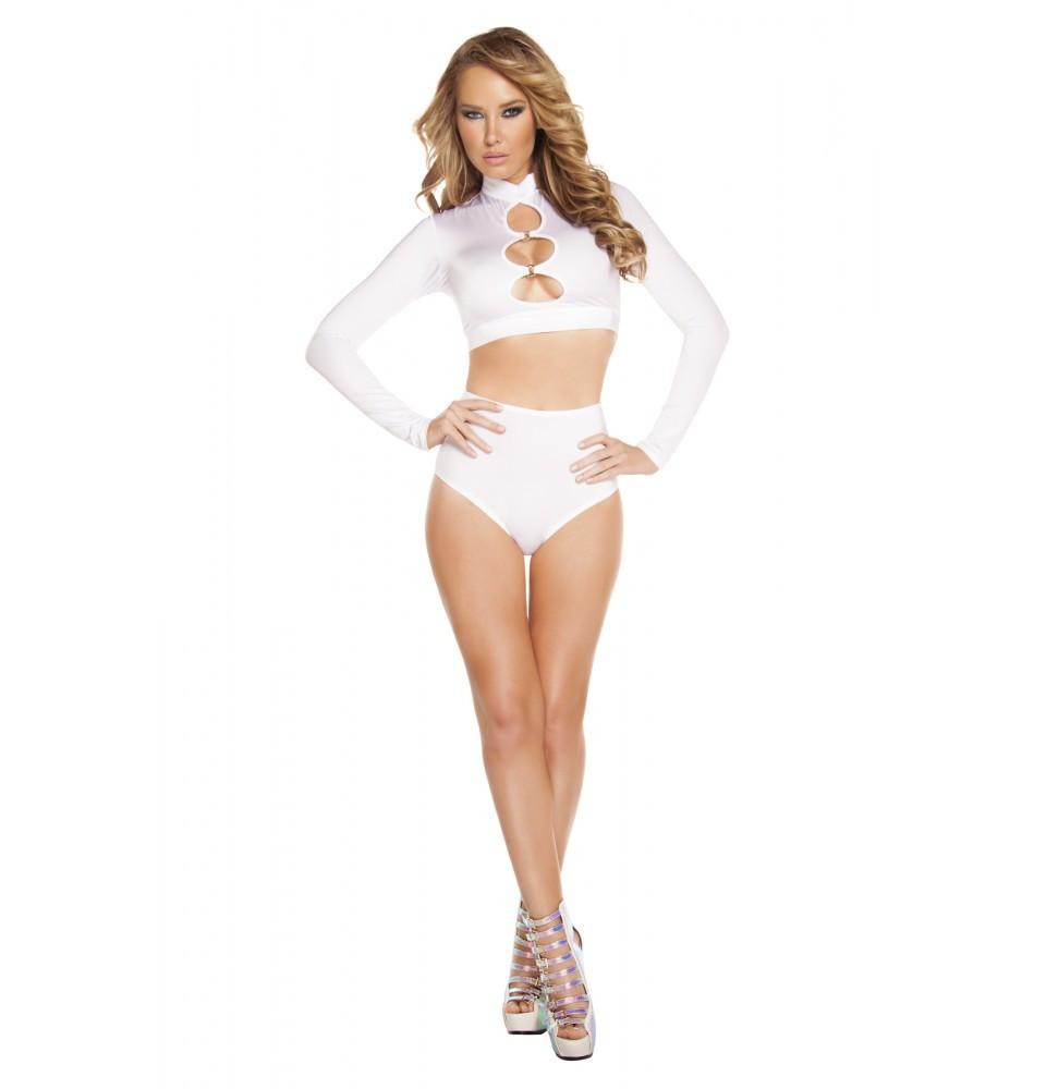 SH3193 - White - High-Waisted Shorts - Roma Costume Shorts,New Products,New Arrivals