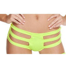 SH3195 - Yellow - Triple Strapped Bottom - Shorts - Roma Costume Shorts - 1