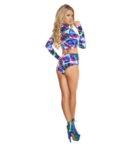 SH3210 - Electric - High-Waisted Printed Shorts - Roma Costume Shorts - 2