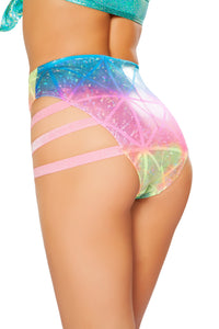 SH3281 - High-Waisted Side Strapped Shorts