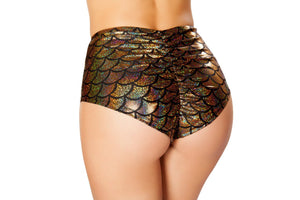 SH3313 - High-Waisted Pucker Back Mermaid Shorts