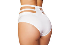 SH3321 - Solid High-Waisted Strapped Shorts