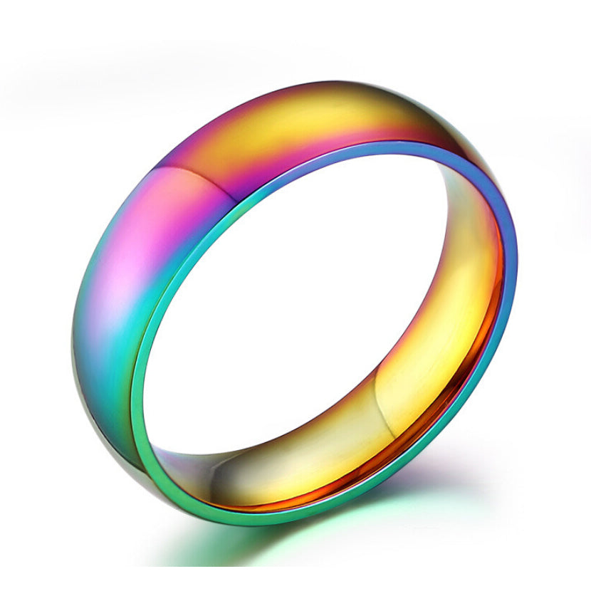 Pride Rings Jewelry Rainbow color