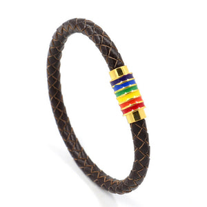 Leather PRide Bracelet